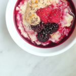 Epic Berry Porridge with Cashew Butter and Chia Seeds